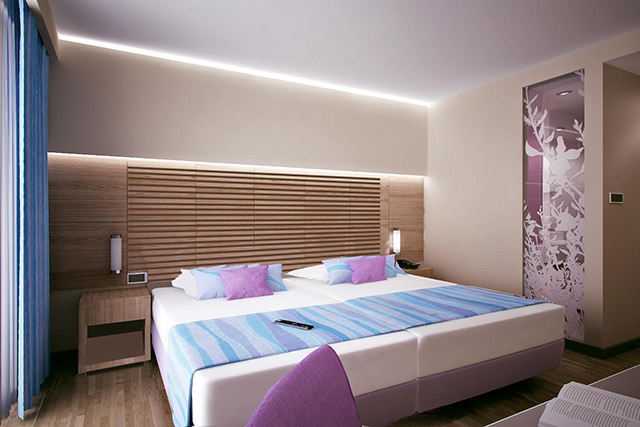 Double-bed room Hotel Punta 1/2+1 Premium + View
